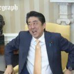 海外「これはウケるわ」トランプと握手した安倍首相の表情が面白いと海外で話題!