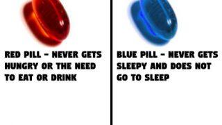 海外「お腹が空かなくなる薬」VS「眠くならない薬」究極の選択に対する海外の反応