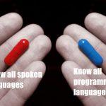 海外「全ての外国語が話せる能力」VS「全てのプログラム言語を操る能力」究極の選択に対する外国人の反応