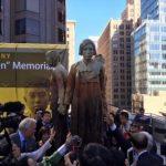 韓国「米SF市の慰安婦ハルモニ像が毀損!瞳に白目が入ったよ!私たちの誇りが…」の声