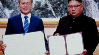金&ムン「年内にソウルで終戦宣言するよ!」←核放棄の無い終戦宣言?脳の無い韓半島だの声