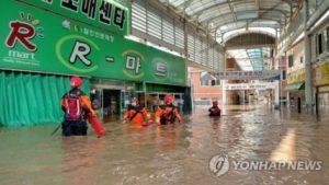韓国「韓国に上陸した台風25号により、住宅の浸水被害が1000軒発生」