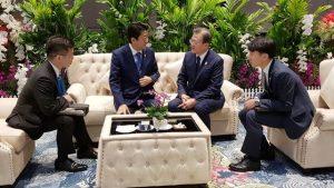 韓国「日韓首脳会談を韓国側が無断撮影した!と日本が主張!恥ずかしい!盗撮犯だ」の声